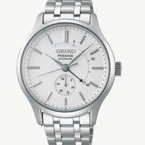 Seiko Presage Steel 42mm White No numerals