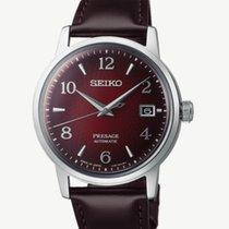 Seiko Presage Steel 38.5mm Red Arabic numerals