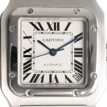 Cartier Santos Galbée Steel 32mm Silver