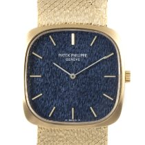 Patek Philippe Golden Ellipse Yellow gold 28.5mm Blue