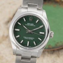 Rolex Oyster Perpetual 31 Stål 31mm Grön