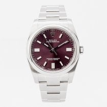 Rolex Oyster Perpetual 36 Steel 36mm Purple Arabic numerals United Kingdom, Guildford,Surrey