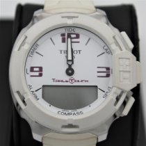 Tissot T-Race Touch Acero 42.15mm Blanco Arábigos