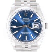 Rolex Datejust gebraucht 36mm Blau Datum Stahl