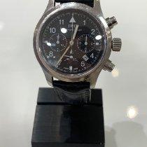 IWC Pilot Chronograph Acero 36mm Negro Arábigos España, palma de mallorca