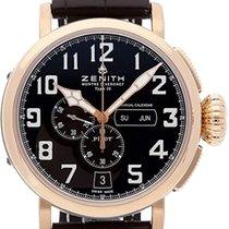 Zenith Pilot Type 20 Annual Calendar Титан 48mm Черный Aрабские