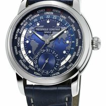 Frederique Constant Manufacture Worldtimer Steel 42mm Blue United States of America, New York, Monsey
