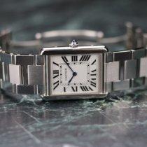 Cartier usato Quarzo 34.8mm Argento Vetro zaffiro 3 ATM