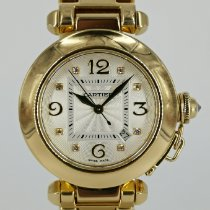 Cartier Pasha 2397 Sehr gut Gelbgold 32mm