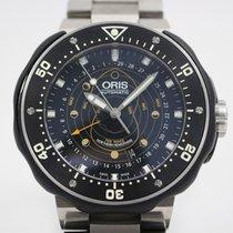 Oris ProDiver Chronograph pre-owned 48mm Black Annual calendar Titanium