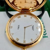 Rolex Watch pre-owned 2002 Yellow gold 48mm Roman numerals Manual winding Watch with original box and original papers