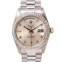 Rolex Day-Date 36 18039 Sehr gut Weißgold 36mm Automatik