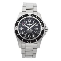 Breitling Steel Automatic Black 44mm pre-owned Superocean II 44