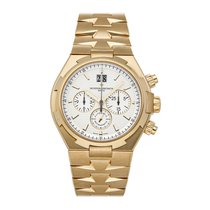 Vacheron Constantin Yellow gold Automatic Silver No numerals 42.5mm pre-owned Overseas Chronograph