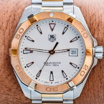 TAG Heuer Aquaracer 300M pre-owned 40.50mm Silver Date Gold/Steel