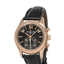 Patek Philippe Annual Calendar Chronograph pre-owned 40mm Black Flyback Date Month Annual calendar Fold clasp
