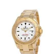 Rolex Yellow gold Automatic White 40mm pre-owned Yacht-Master