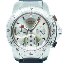 Glashütte Original Sport Evolution Chronograph Stahl Silber