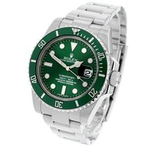 Rolex Green 40mm pre-owned Submariner Date