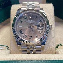 Rolex Datejust Zeljezo 41mm Zelen Rimski brojevi