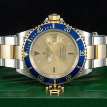 Rolex Submariner Date Gold/Steel 40mm Gold No numerals