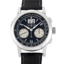 A. Lange & Söhne Platinum Manual winding Black 39mm pre-owned Datograph