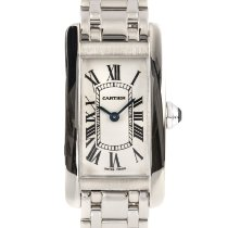 Cartier Tank Américaine Hvitt gull 27.5mm