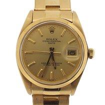 Rolex Oyster Perpetual Date Желтое золото 34mm