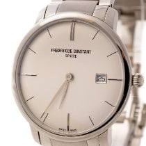 Frederique Constant Slimline Automatic pre-owned 40mm White Date Steel