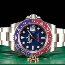 Rolex GMT-Master II Weißgold 40mm Blau Keine Ziffern