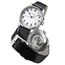 Stowa new Manual winding Display back Central seconds Tempered blue hands Only Original Parts 40mm Steel Sapphire crystal