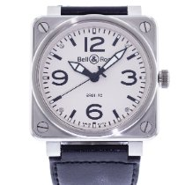 Bell & Ross Steel Automatic White 46mm pre-owned BR 01-92