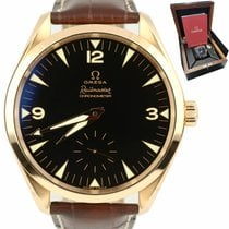 Omega Rose gold Automatic Black Arabic numerals 49.2mm pre-owned Seamaster Railmaster