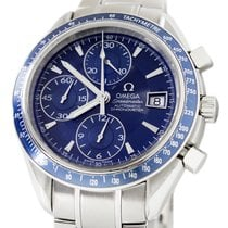Omega Speedmaster Date Steel 40mm Blue No numerals