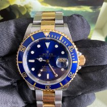 Rolex Submariner Date Золото/Cталь 40mm Синий Без цифр Россия, Москва