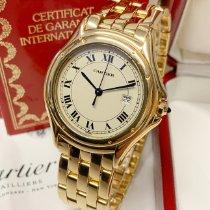 Cartier Cougar Желтое золото 33mm Белый Римские