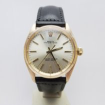Rolex Rose gold Automatic Silver No numerals 34mm pre-owned Oyster Perpetual 34