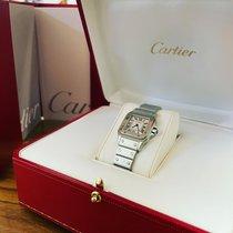 Cartier Santos Galbée pre-owned 24mm White Steel