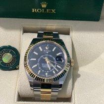 Rolex Sky-Dweller Or/Acier 42mm Noir Sans chiffres France, Gonesse