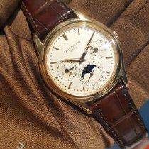 Patek Philippe Perpetual Calendar usados 36mm Plata Fase lunar Fecha Día de la semana Mes Calendario perpetuo Piel de aligátor