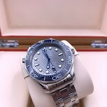 Omega Steel Automatic Grey No numerals 42mm pre-owned Seamaster Diver 300 M