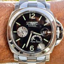 Panerai Luminor Power Reserve Titanium 44mm Zwart Arabisch