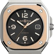 Bell & Ross Steel 40mm Automatic BR05A-BL-STPG/SRB new