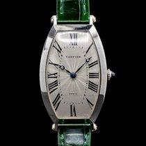 Cartier Platin Handaufzug Silber Römisch 46mm gebraucht Tonneau