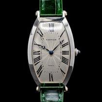 Cartier Platin Handaufzug Römisch 26mm Tonneau