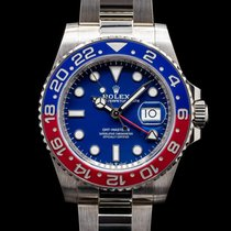 Rolex GMT-Master II pre-owned 40mm Blue Date GMT White gold