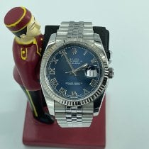 Rolex Datejust Steel 36mm Blue Roman numerals Malaysia