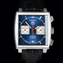 TAG Heuer Monaco Calibre 12 Steel 39mm Blue No numerals