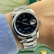 Rolex Datejust Acciaio 36mm Nero Arabi Italia, London