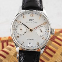 IWC Stål Automatisk Silver 42mm begagnad Portuguese Automatic